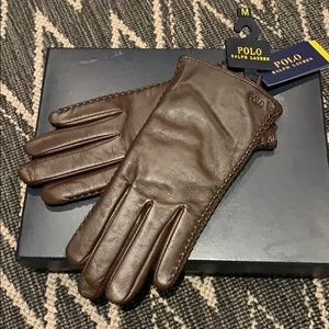 Ralph Lauren polo leather gloves